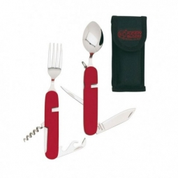 couvert camping rouge keen blades