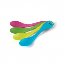 Lot de 4 Spork Original Light My Fire rose-vert-jaune-bleu
