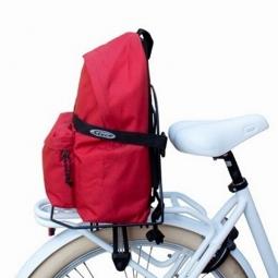 Support valise sur porte bagage de velo