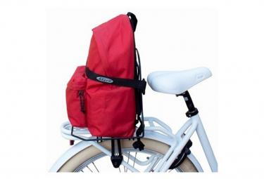 Support valise sur porte bagage de vélo .