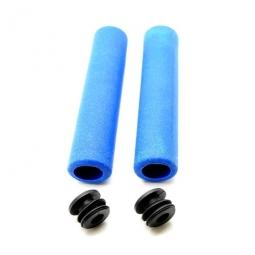 paire de poignee en silicone bleu pour velo non communique