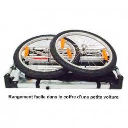 Remorque pliable avec roue de 20 pouces