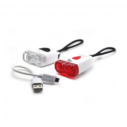 Image of Kit d eclairage velo rechargeable sur port usb
