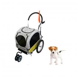 Remorque/poussette aluminium pliable pour chien Maxxus