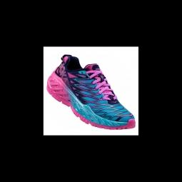 chaussures de running hoka one one clayton 2 blue fushia 38