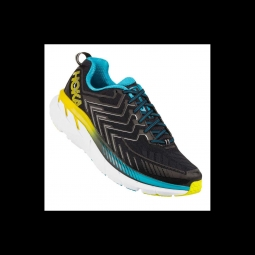 Baskets running hoka one one clifton 4 black cyan citrus 43 1 3