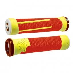 Pack poignee odi ag2 v2 1 lock on 135mm orange jaune 135