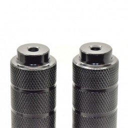 Pegs Bmx aluminium original - Axe 10 mm - Noir
