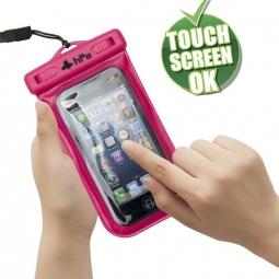 PHONEPACK R Housse étanche téléphone avec espace clef carte de credit - Rose