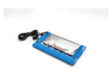 PHONEPACK B Housse étanche téléphone avec espace clef carte de credit - Bleu