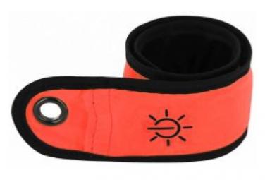 ILLUMIN8 O Brassard lumineux à fibre optique et clap automatique - Orange