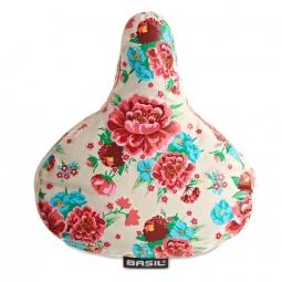 Couvre selle de velo impermeable fleuri basil non communique