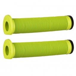Paire de poignees bmx 140 mm vert non communique