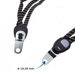Elastique double crochets pour porte bagage de vélo