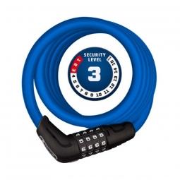 Antivol cable a code pour velo 180 cm abus numero bleu