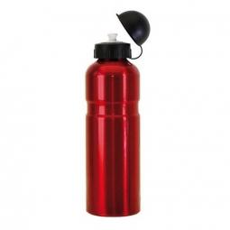 bidon velo aluminium 750 ml rouge