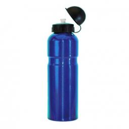 Gourde velo aluminium 750 ml bleue