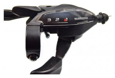 Manette de freinage et dérailleur vélo 3 vitesses Noir .