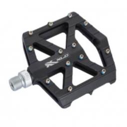 Pédales ultra plates pour VTT et BMX noir et argent - XLC