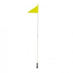 drapeau velo jaune fluo