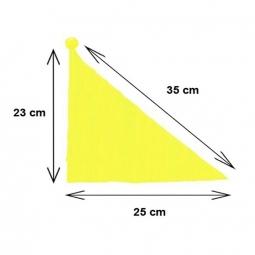 Drapeau vélo jaune fluo