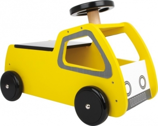 Porteur voiture jaune pour enfant