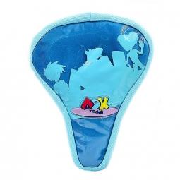 Couvre selle gel pour velo enfant bleu unique