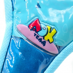 Couvre selle gel pour vélo enfant bleu