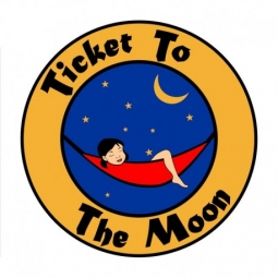 Hamac simple Ticket To The Moon kaki uni sans coutures