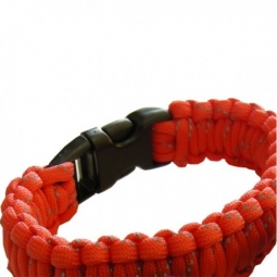 Bracelet Paracord orange Bushcraft BCB
