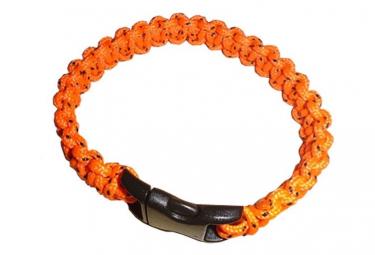 Image of Bracelet paracord orange bushcraft bcb