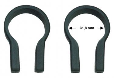 Raccord pour adaptateur Klickfix noir, 31,8mm .