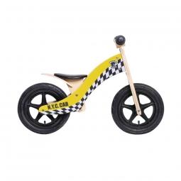 Draisienne rebel kidz wood air bois 12 taxi jaune