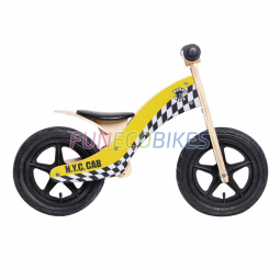 Draisienne Rebel Kidz Wood Air bois, 12 , taxi jaune
