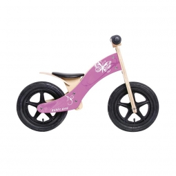 Draisienne rebel kidz wood air bois 12 papillon rose