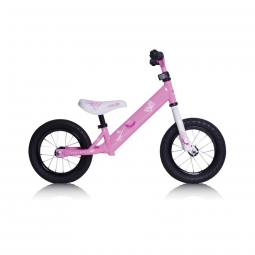 Draisienne rebel kidz 12 5 air acier papillon rose