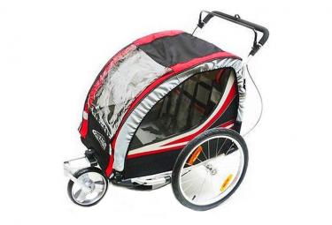 Remorque vélo double pour enfant avec kit piéton .