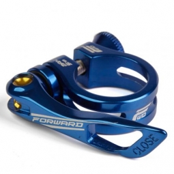 Collier de selle forward elite 25 4mm blue 31 8mm