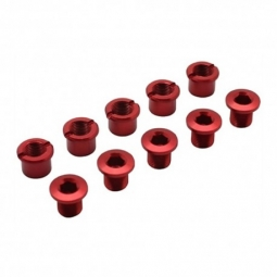 Pack visserie couronne alu 8 5 red