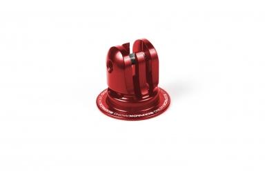 bouchon de potence sixpack 2en1 support gopro rouge