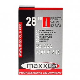 Chambre à air Maxxus 700 x 23C F/V 52 mm