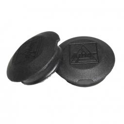 Cache noir pour protection de pedalier de velo la paire non communique
