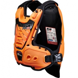 gilet protection rxr strongflex junior orange lining blk enfant