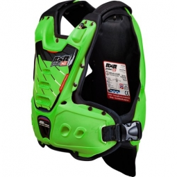 gilet protection rxr strongflex junior green lining blk enfant