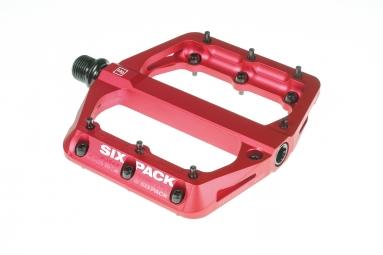 Pédales SIXPACK Millenium -MG - Rouge
