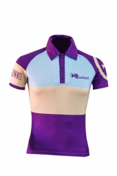 Polo manches courtes 5quinas classic violet coupe ajustee xl