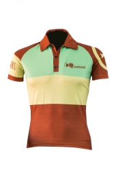 Polo manches courtes 5quinas classic menthe coupe ajustee