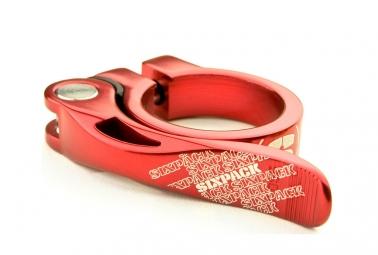 collier de selle sixpack menace rouge 31 8mm