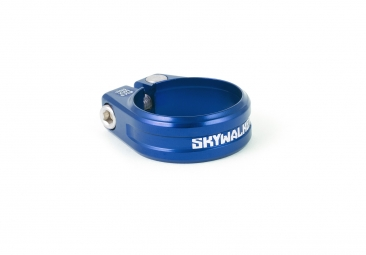 collier de selle sixpack skywalker bleu 31 8mm