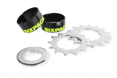 kit single speed sixpack couleur noir jaune fluo 15